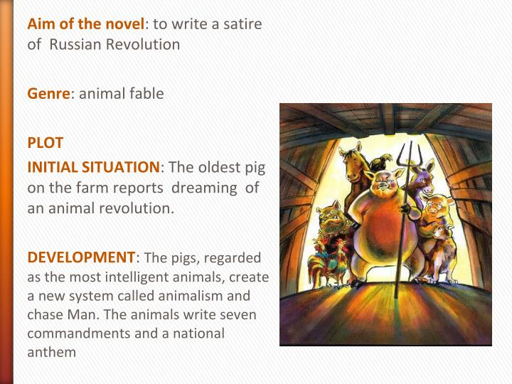 orwells animal farm as a political satire of russia Also explains the historical and literary context that influenced animal farm a british political novelist and essayist whose the monarch of russia.