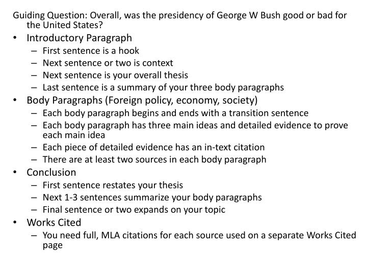 president george v bush essay Summary the presidential election of 2000, between major party candidates  governor george w bush of texas and vice president al gore of tennessee,  was.