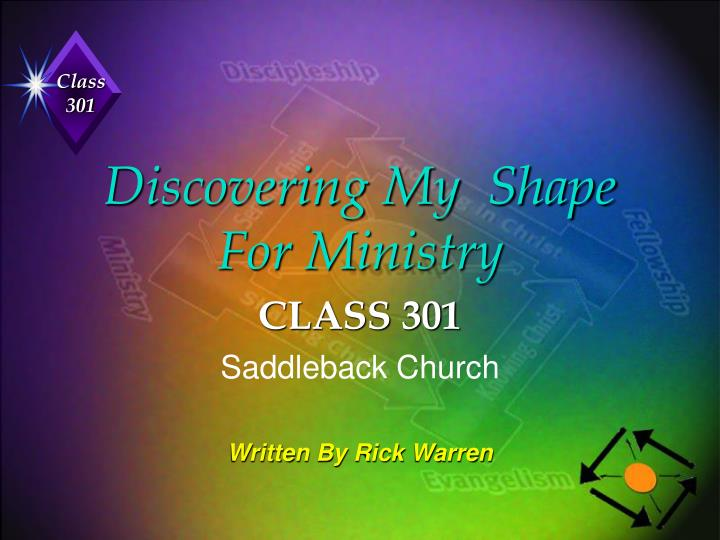 discovering my shape for ministry n.