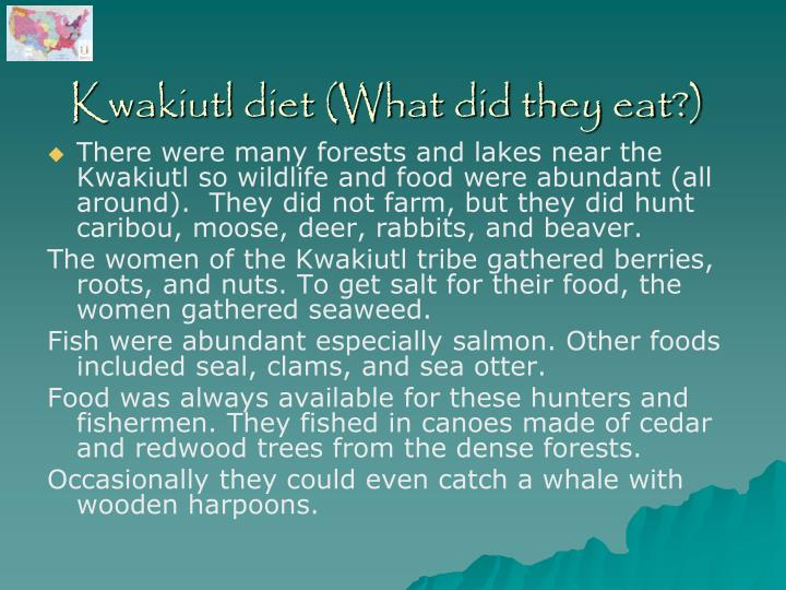 Kwakiutl diet (What did they eat?)
