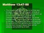 matthew 13 47 50