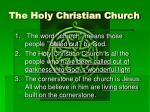 the holy christian church