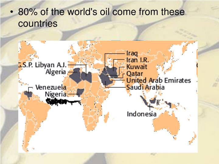 80% of the world's oil come from these countries