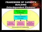 framework of capacity building interdependent elemens