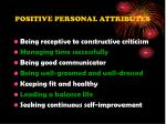 positive personal attributes1