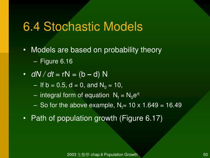 6.4 Stochastic Models