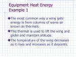 equipment heat energy example 1