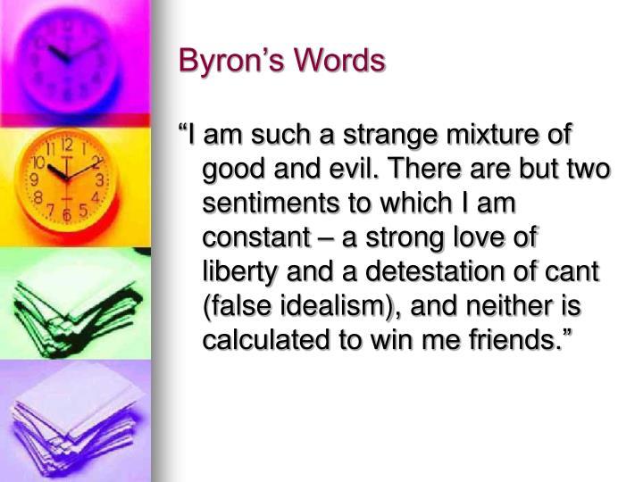 Byron's Words