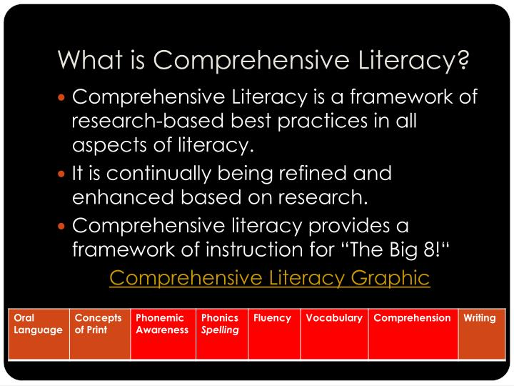 What is comprehensive literacy