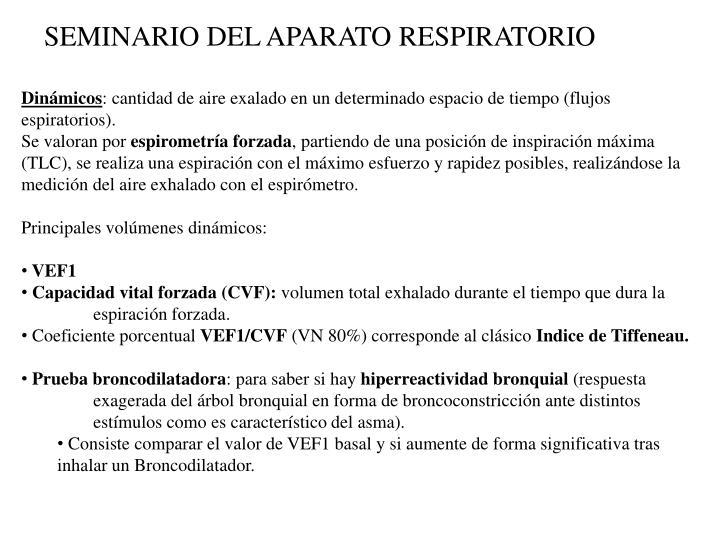 SEMINARIO DEL APARATO RESPIRATORIO