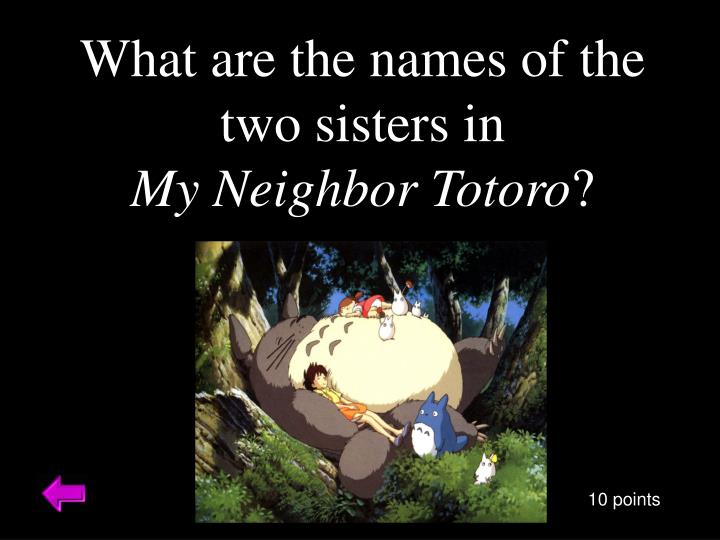 What are the names of the two sisters in