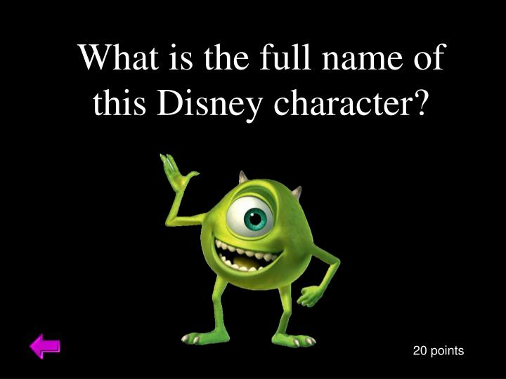 What is the full name of this Disney character?