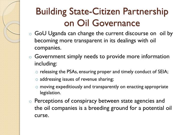 Building State-Citizen Partnership on Oil Governance