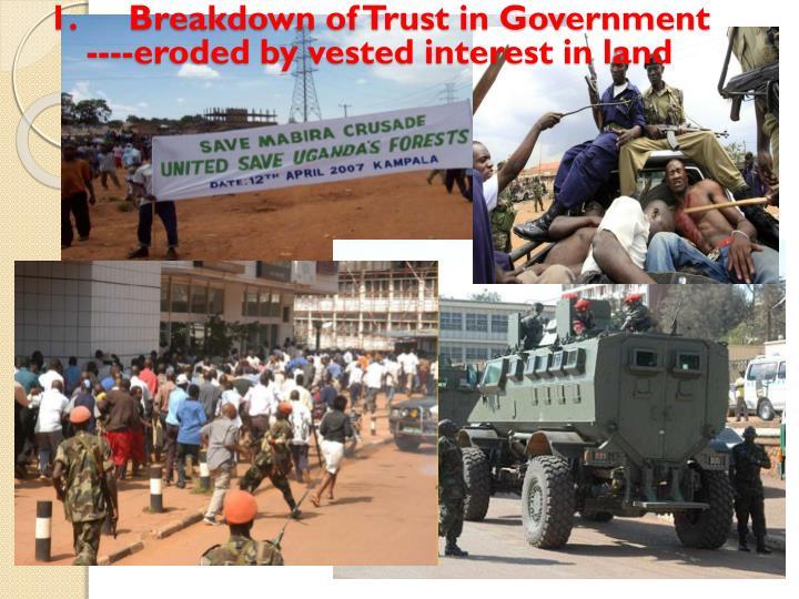 1.Breakdown of Trust in Government