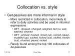 collocation vs style