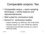 comparable corpora yes