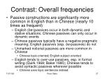 contrast overall frequencies