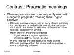 contrast pragmatic meanings