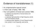 evidence of translationese 1