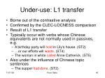 under use l1 transfer