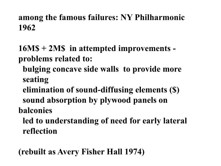 among the famous failures: NY Philharmonic 1962