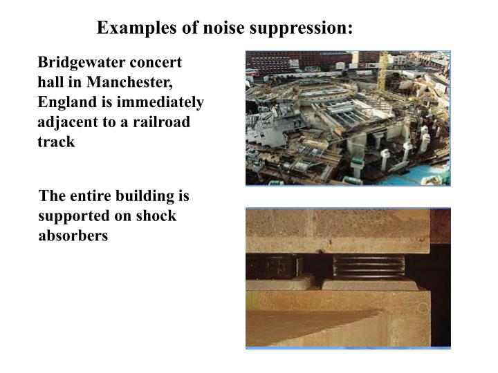 Examples of noise suppression: