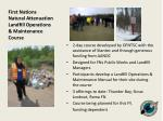 first nations natural attenuation landfill operations maintenance course