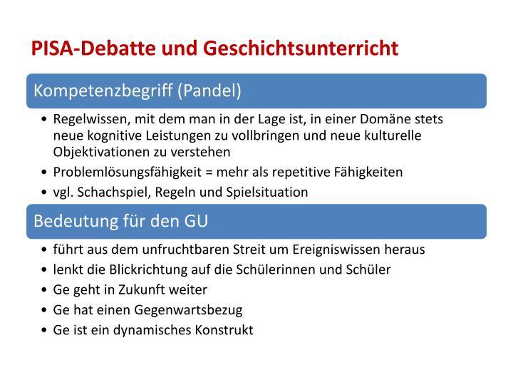 PISA-Debatte und Geschichtsunterricht