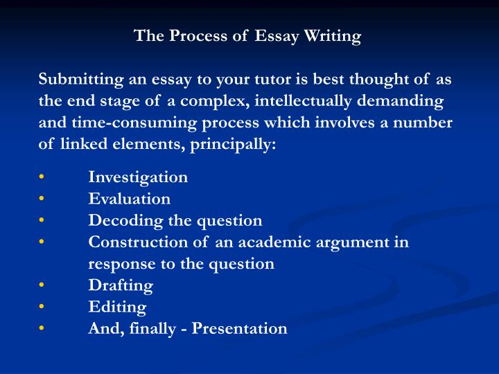 The Process of Essay Writing