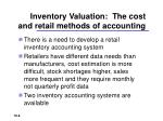 inventory valuation the cost and retail methods of accounting
