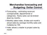 merchandise forecasting and budgeting dollar control2
