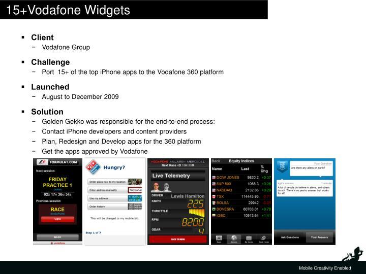 15+Vodafone Widgets