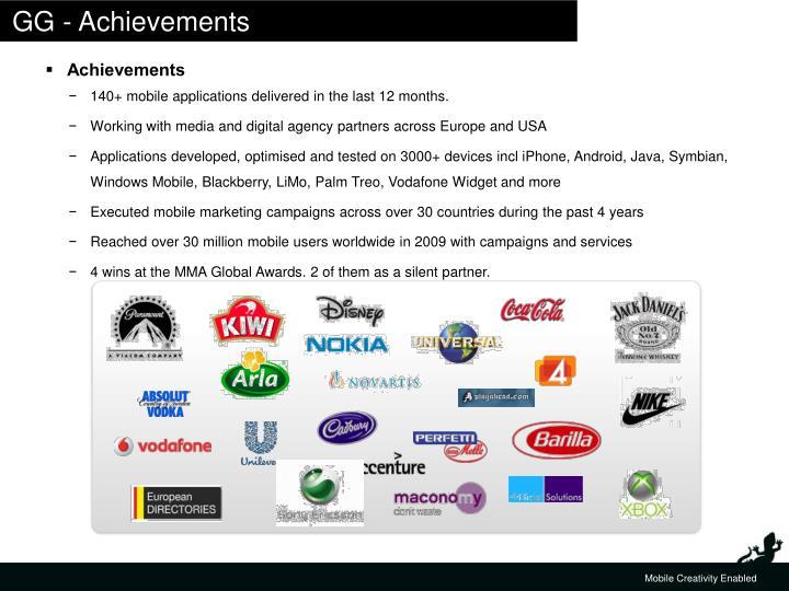 GG - Achievements