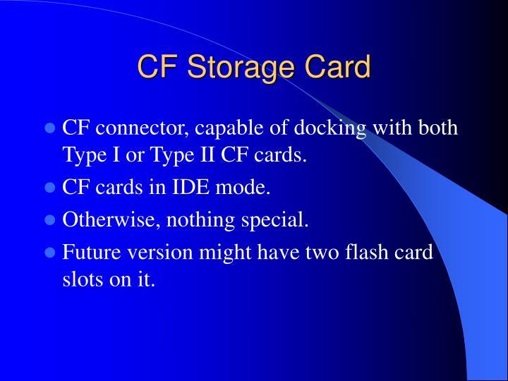 CF Storage Card