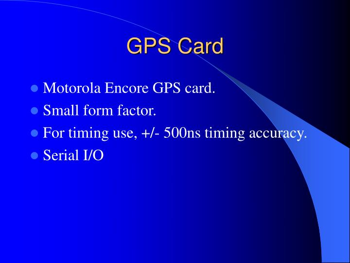 GPS Card