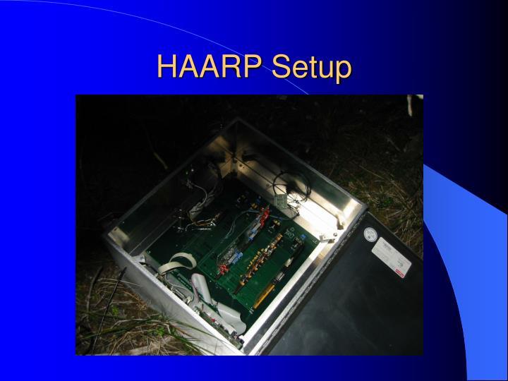 HAARP Setup