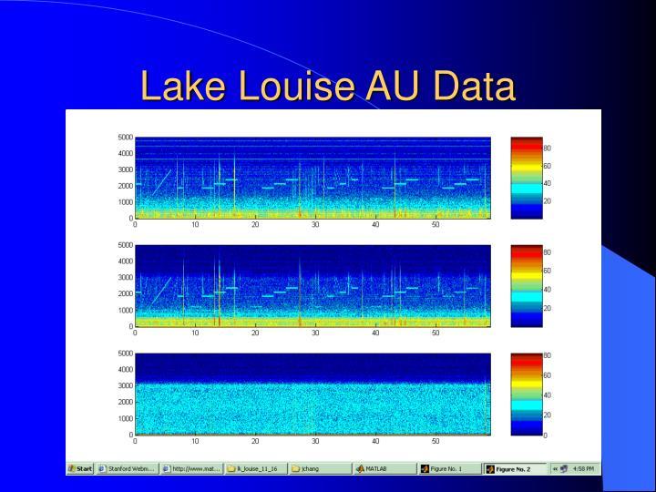 Lake Louise AU Data