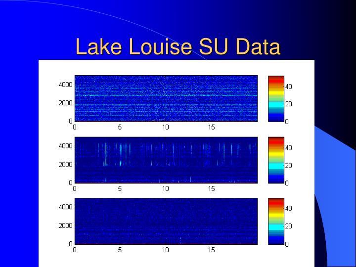 Lake Louise SU Data