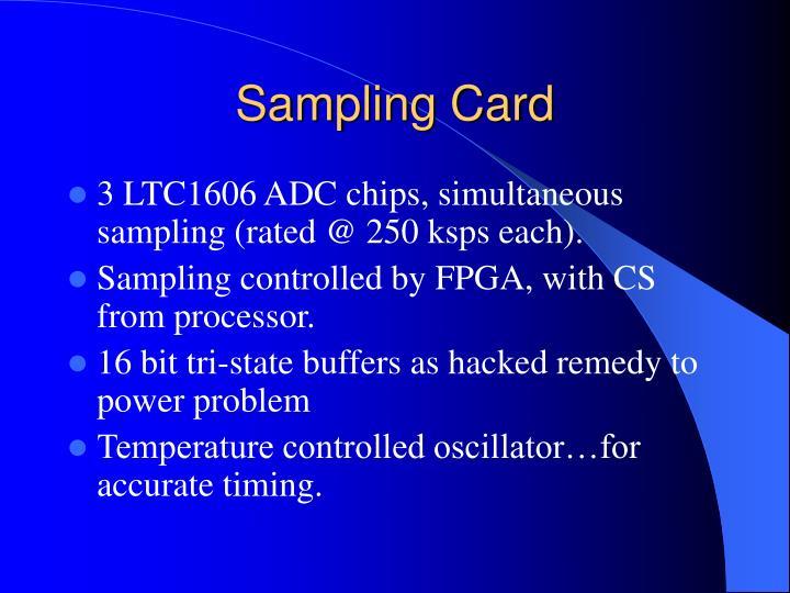 Sampling Card