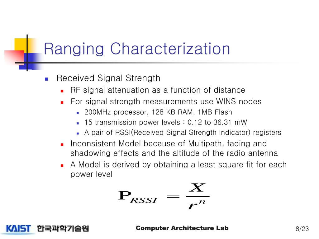 PPT - Dynamic Fine-Grained Localization in Ad-Hoc Networks