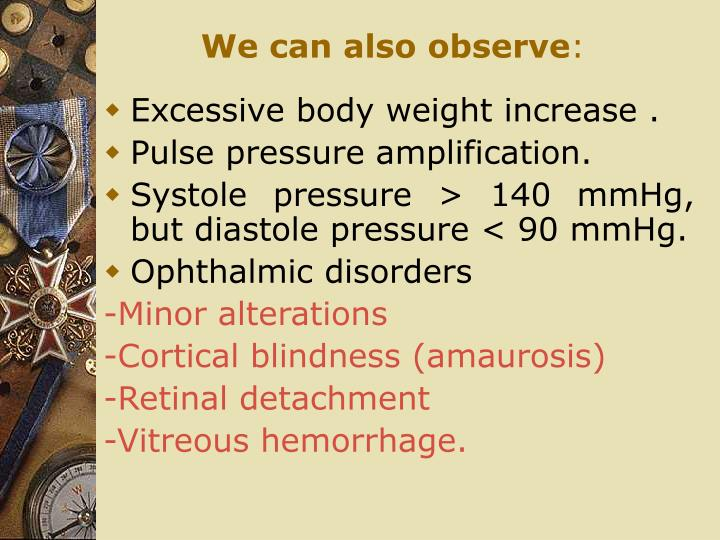 We can also observe
