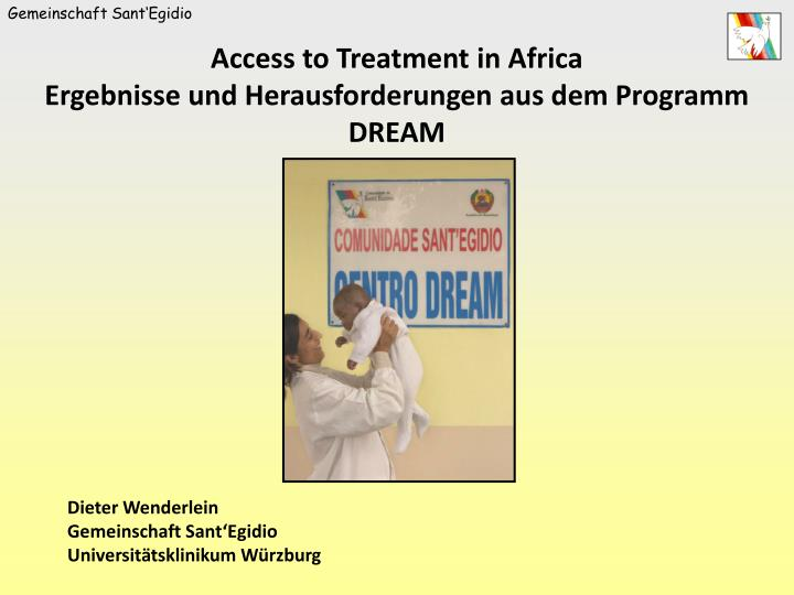 Access to Treatment in Africa