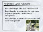 awareness level functions1