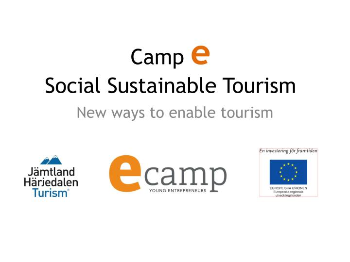 camp e social sustainable tourism n.