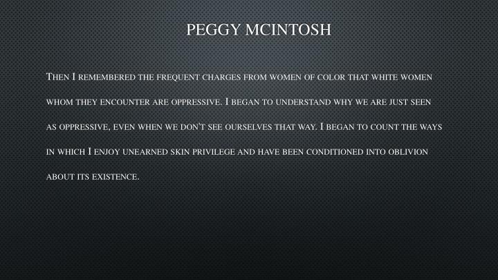 Peggy McIntosh