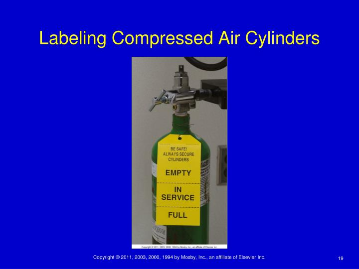 Labeling Compressed Air Cylinders
