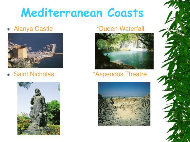 Mediterranean coasts