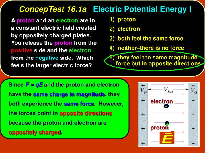 Conceptest 16 1a electric potential energy i1