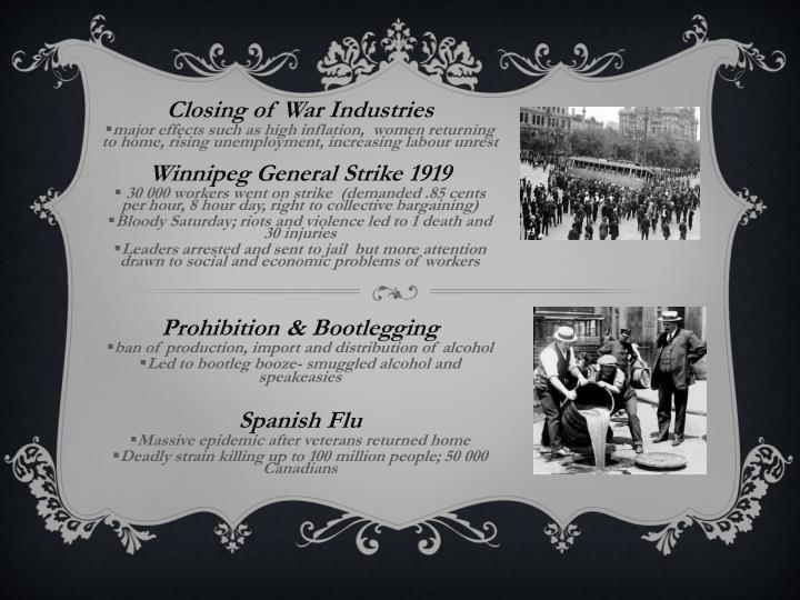 Closing of War Industries