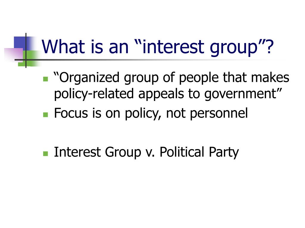 what is the purpose of an interest group
